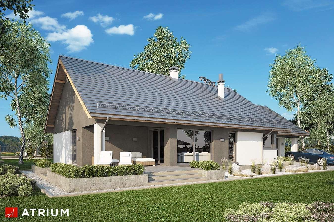 Projekty domów - Projekt domu parterowego CZAJKA II SZ - wizualizacja 2
