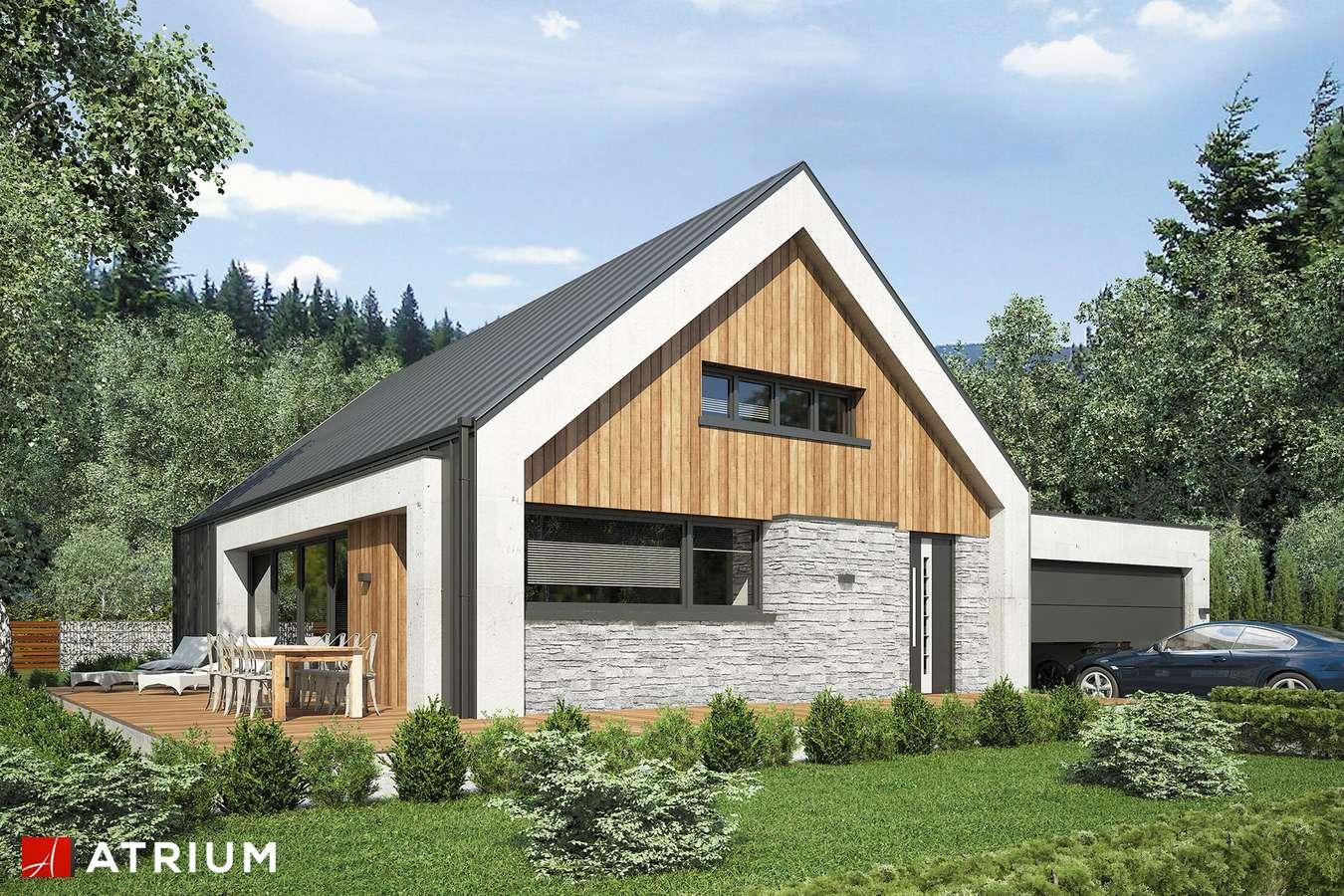 Projekty domów - Projekt domu z poddaszem LOPEZ - wizualizacja 1