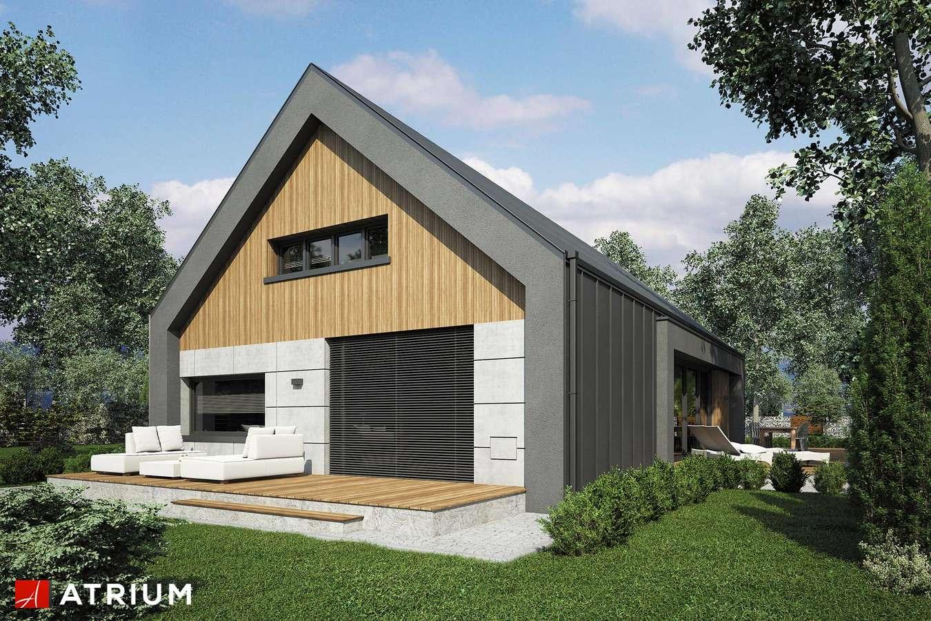 Projekty domów - Projekt domu z poddaszem LOPEZ - wizualizacja 2