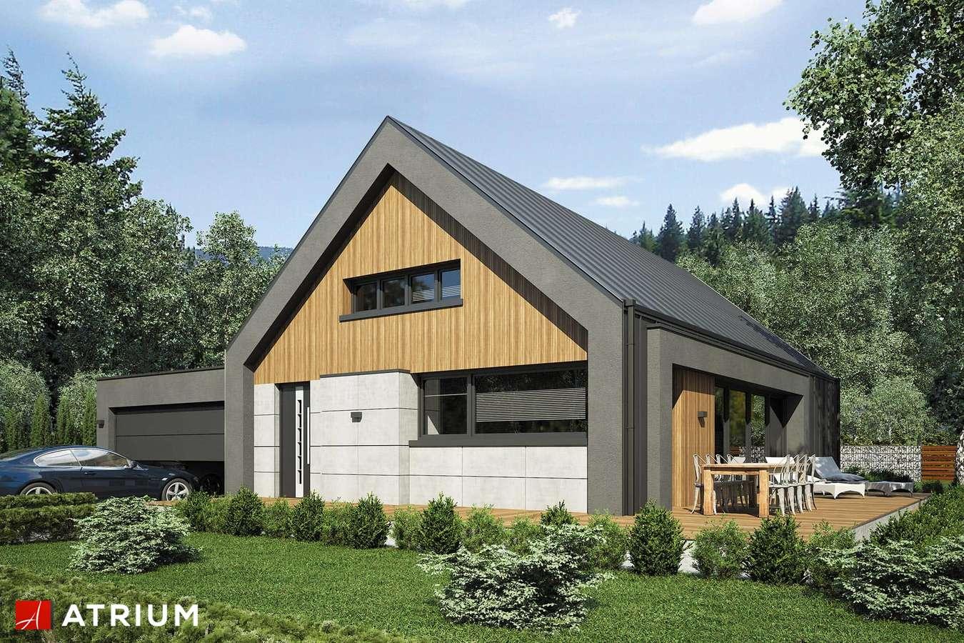 Projekty domów - Projekt domu z poddaszem LOPEZ - wizualizacja 1 - wersja lustrzana