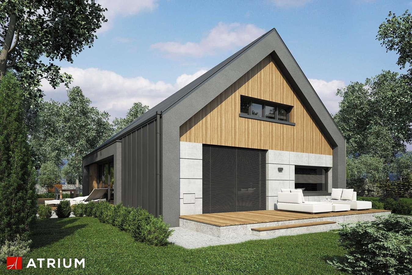 Projekty domów - Projekt domu z poddaszem LOPEZ - wizualizacja 2 - wersja lustrzana