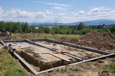 Projekt domu Lopez w budowie