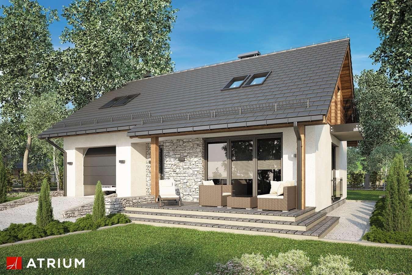 Projekty domów - Projekt domu z poddaszem PAOLO - wizualizacja 1