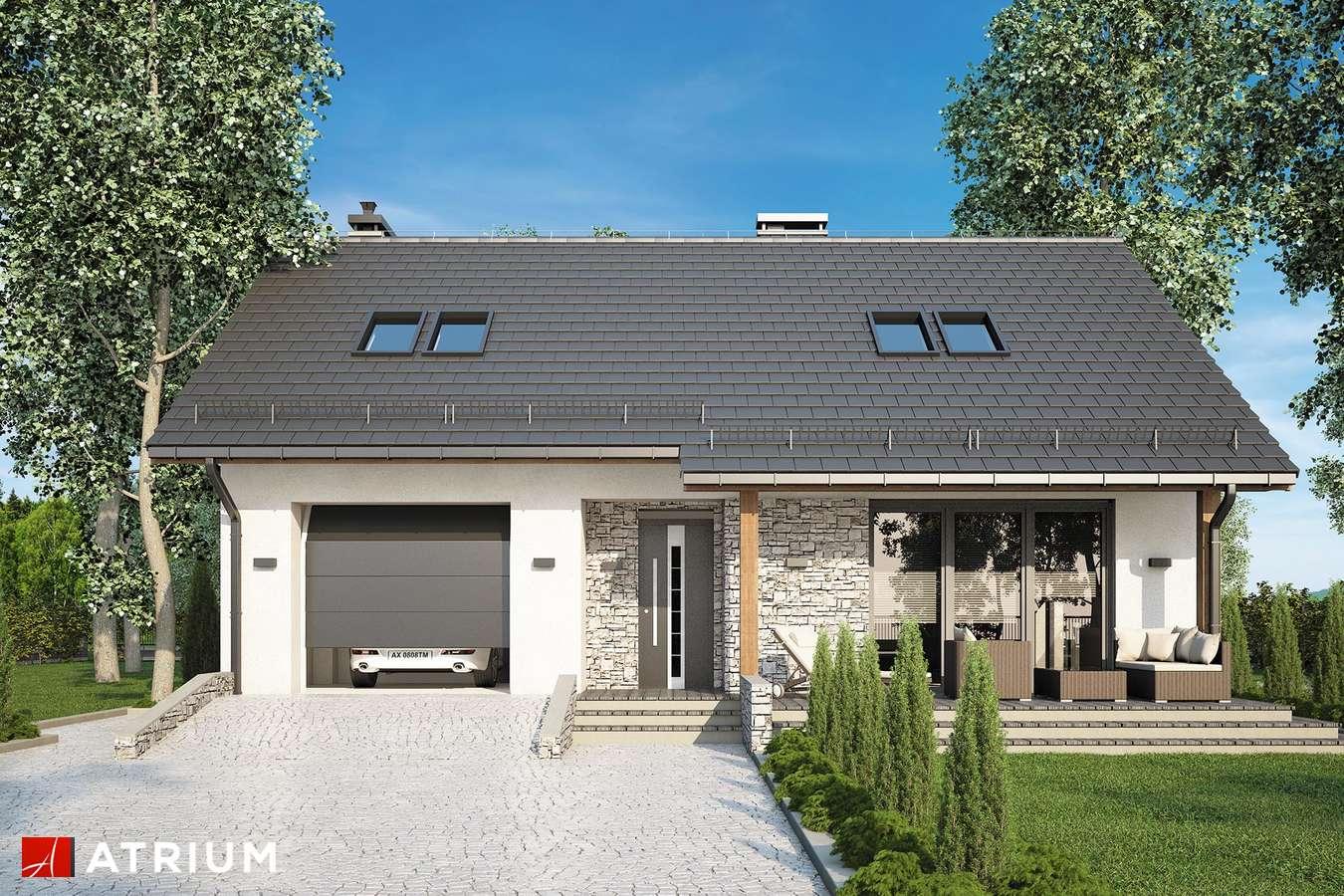 Projekty domów - Projekt domu z poddaszem PAOLO - wizualizacja 2