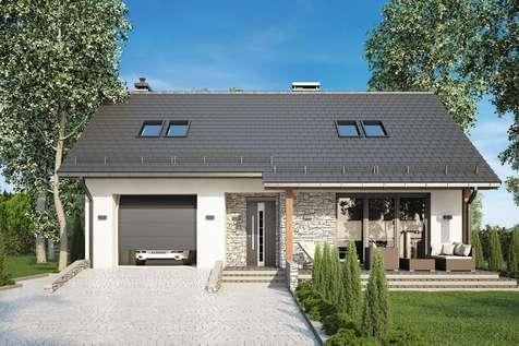 Projekt domu z poddaszem PAOLO - wizualizacja 2