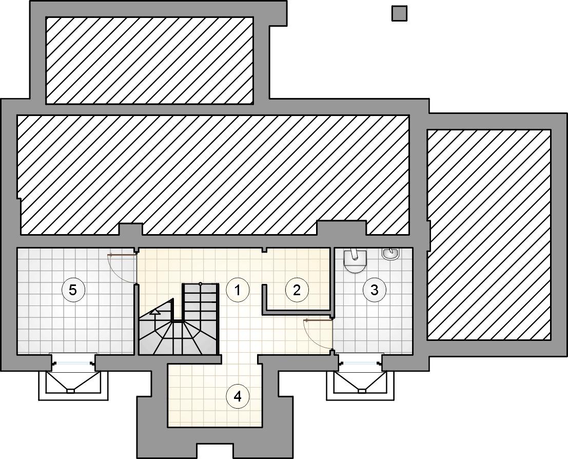 rzut piwnic - projekt U Gazdy IV