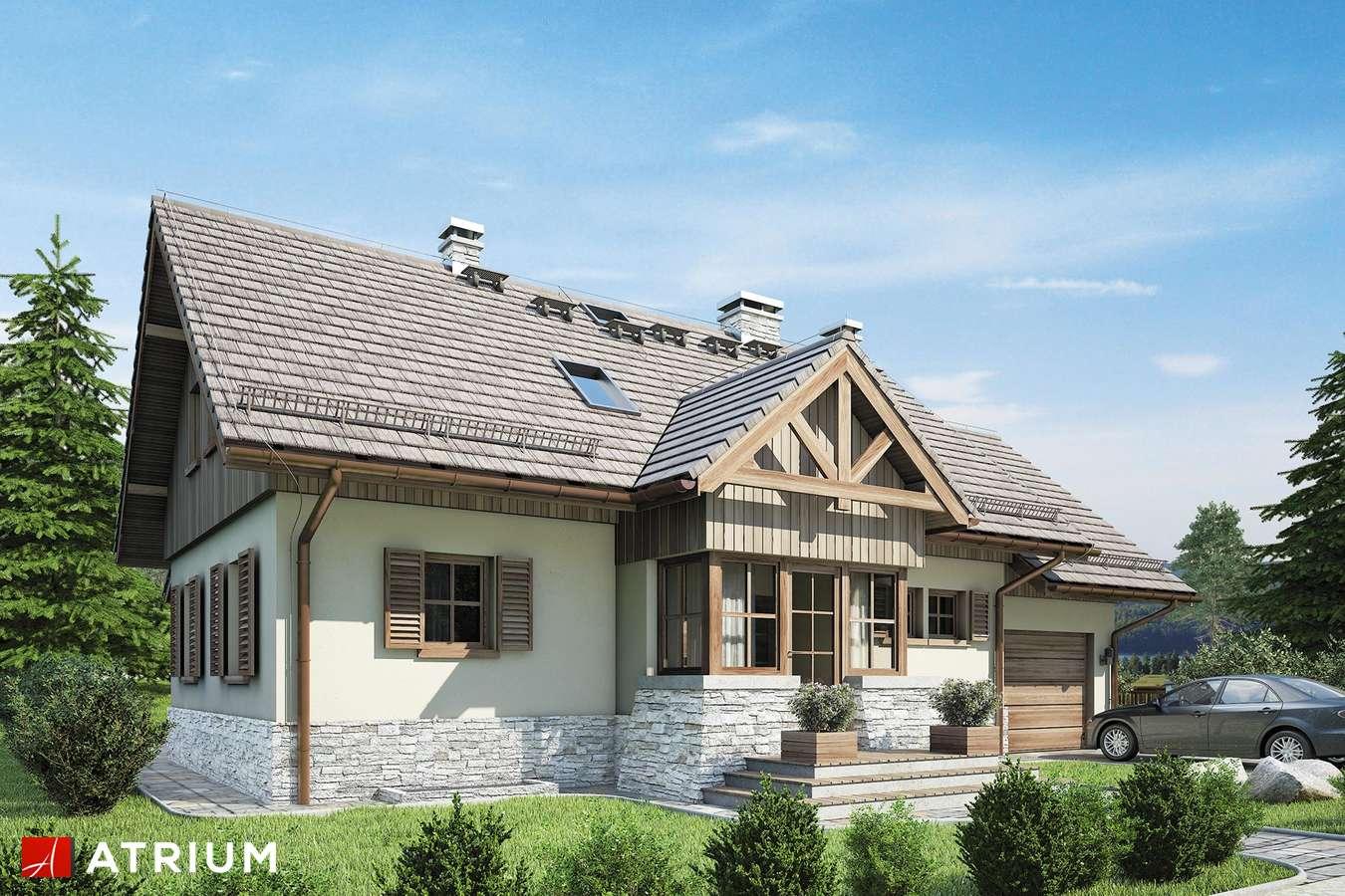Projekty domów - Projekt domu z poddaszem U GAZDY IV - wizualizacja 1