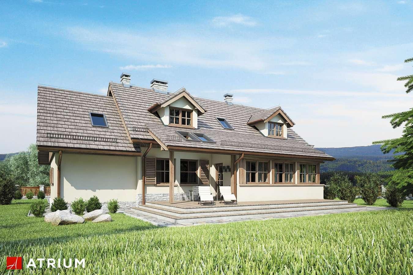 Projekty domów - Projekt domu z poddaszem U GAZDY IV - wizualizacja 2