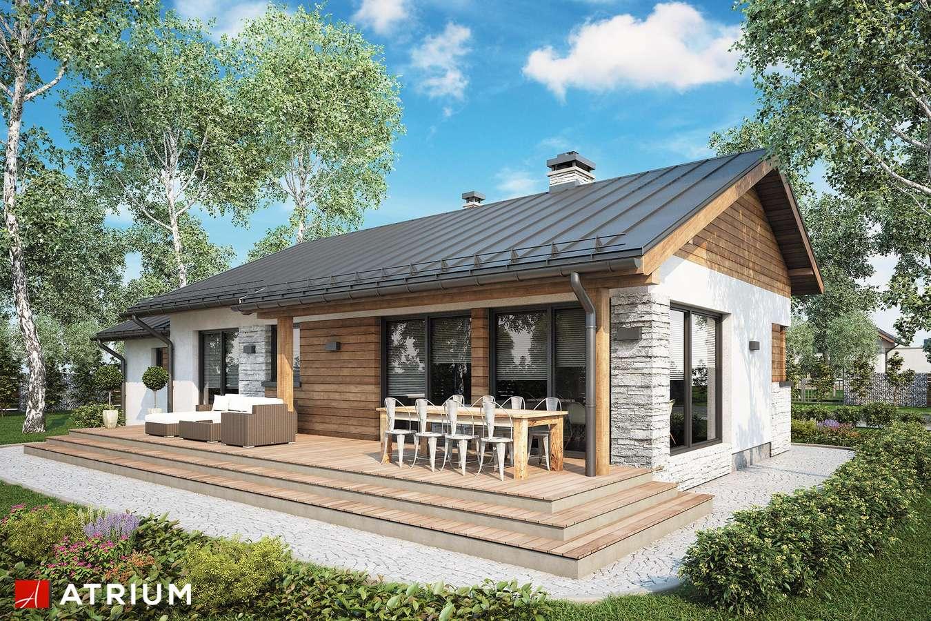 Projekty domów - Projekt domu parterowego ROBERTO II SZ - wizualizacja 1 - wersja lustrzana