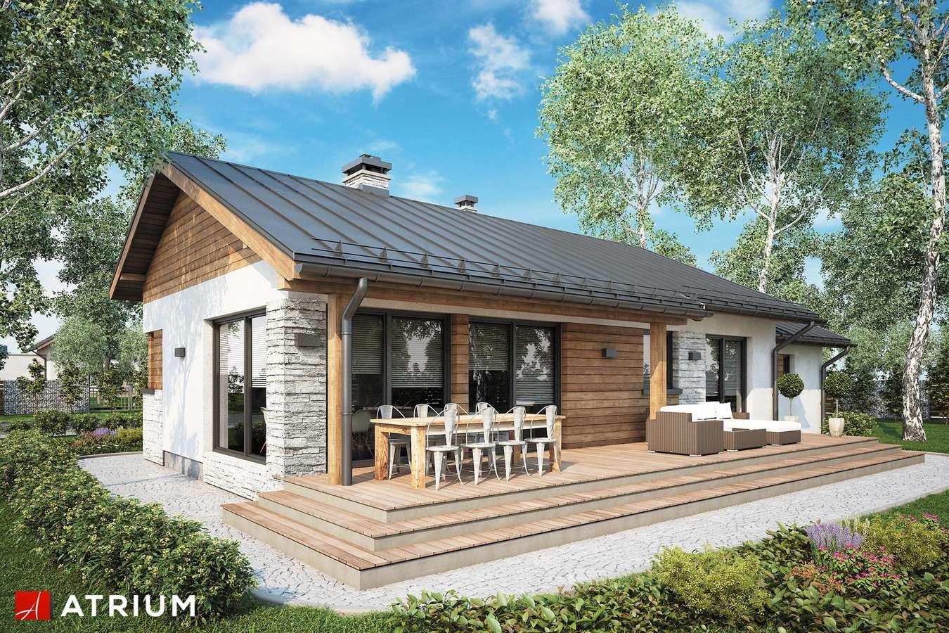 Projekty domów - Projekt domu parterowego ROBERTO II SZ - wizualizacja 1