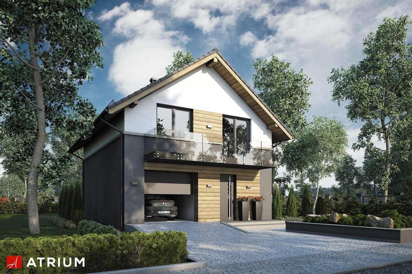 Projekty domów - Projekt domu z poddaszem SILESIA - wizualizacja 1 - wersja lustrzana