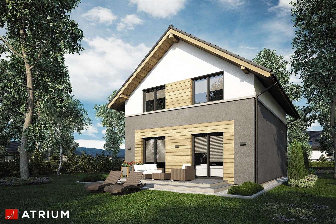 Projekty domów - Projekt domu z poddaszem SILESIA - wizualizacja 2 - wersja lustrzana