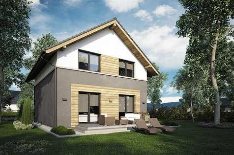 Projekt domu z poddaszem SILESIA - wizualizacja 2