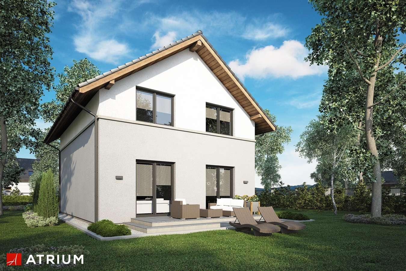 Projekty domów - Projekt domu z poddaszem SILESIA - wizualizacja 2