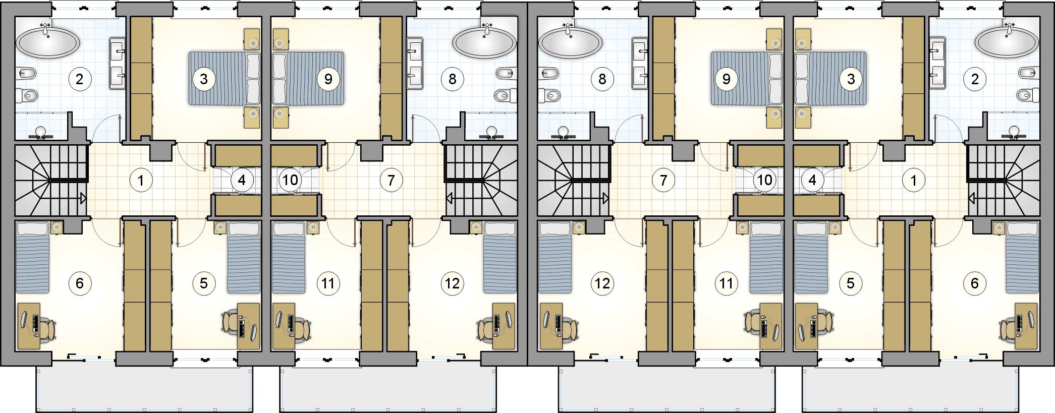 rzut piętra - projekt Torino
