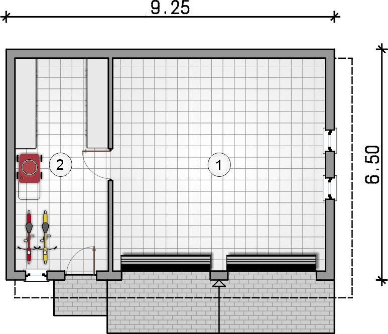 rzut parteru - Projekt ZG 24