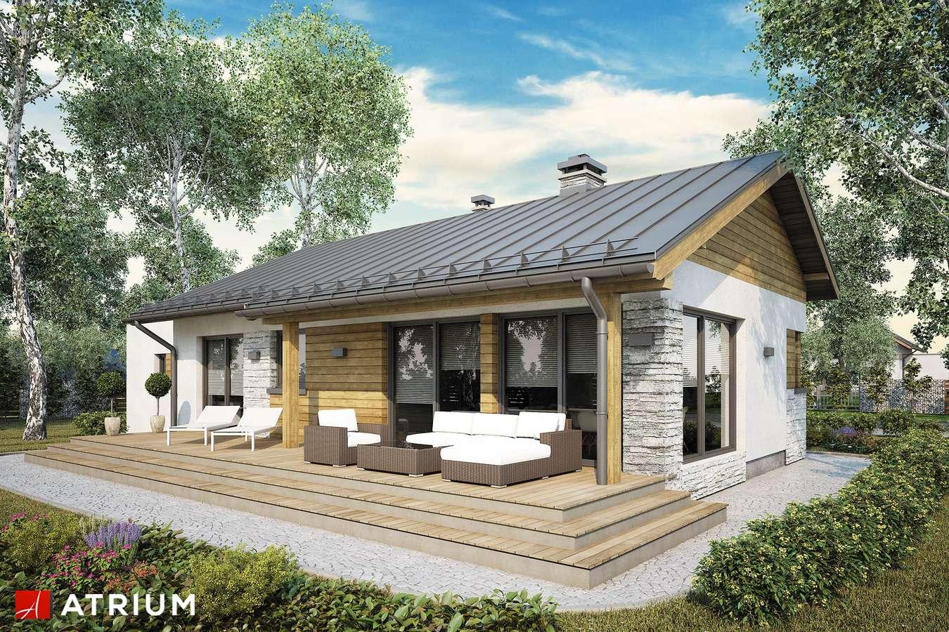 Projekty domów - Projekt domu parterowego ROBERTO III SZ - wizualizacja 2 - wersja lustrzana