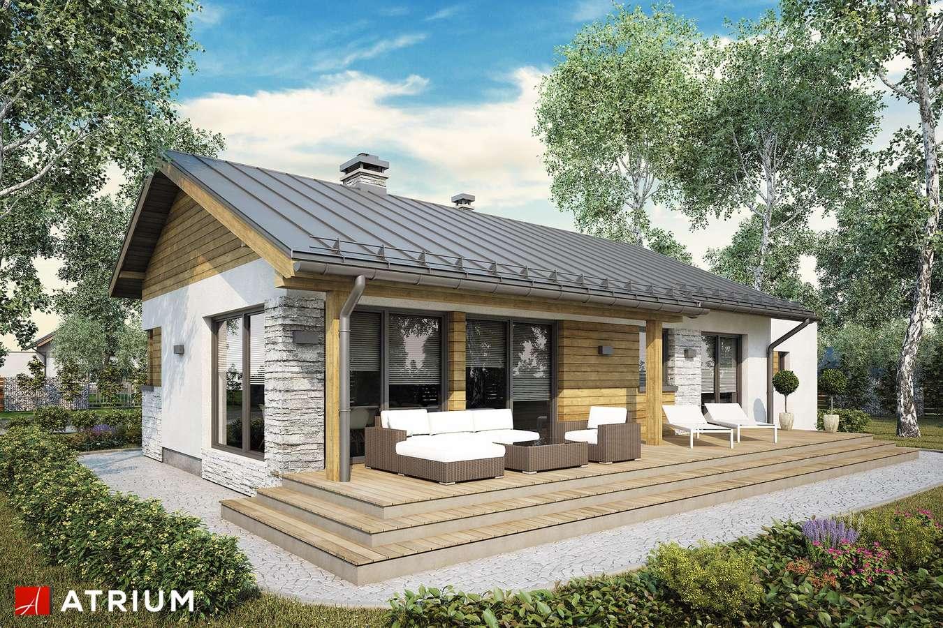 Projekty domów - Projekt domu parterowego ROBERTO III SZ - wizualizacja 2