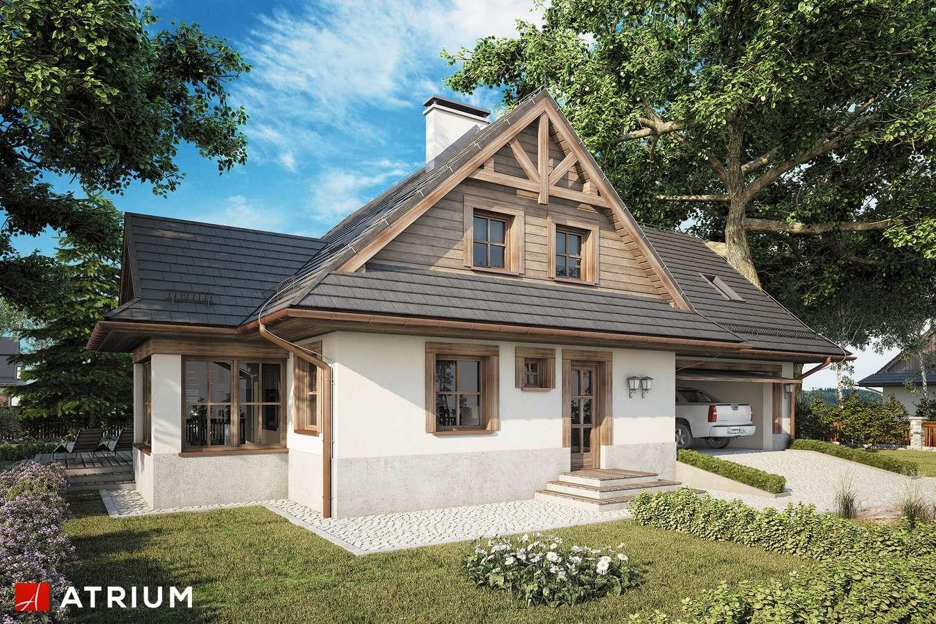 Projekty domów - Projekt domu z poddaszem MALINOWA CHATA II - wizualizacja 1