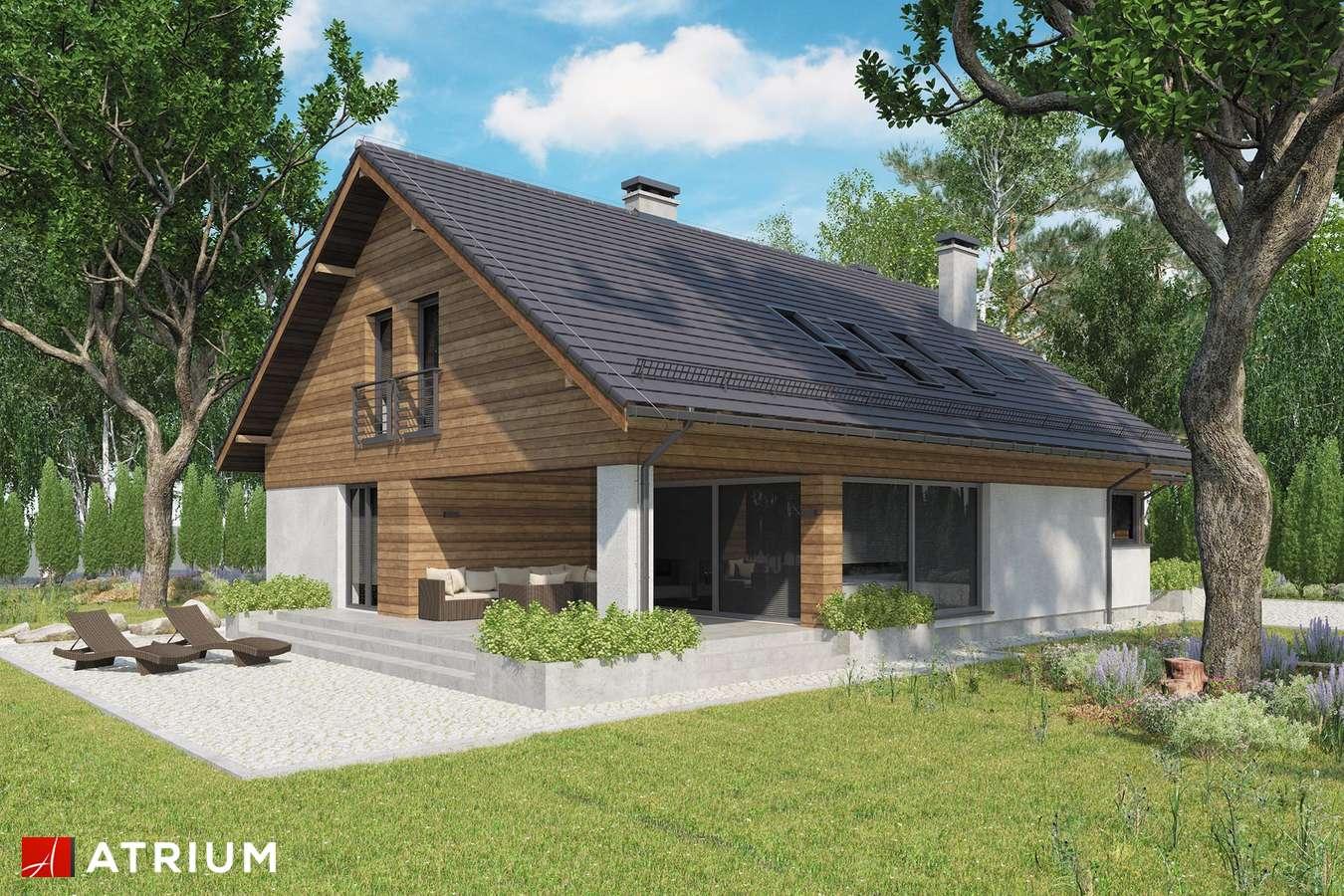 Projekty domów - Projekt domu z poddaszem KOS PLUS IV - wizualizacja 2