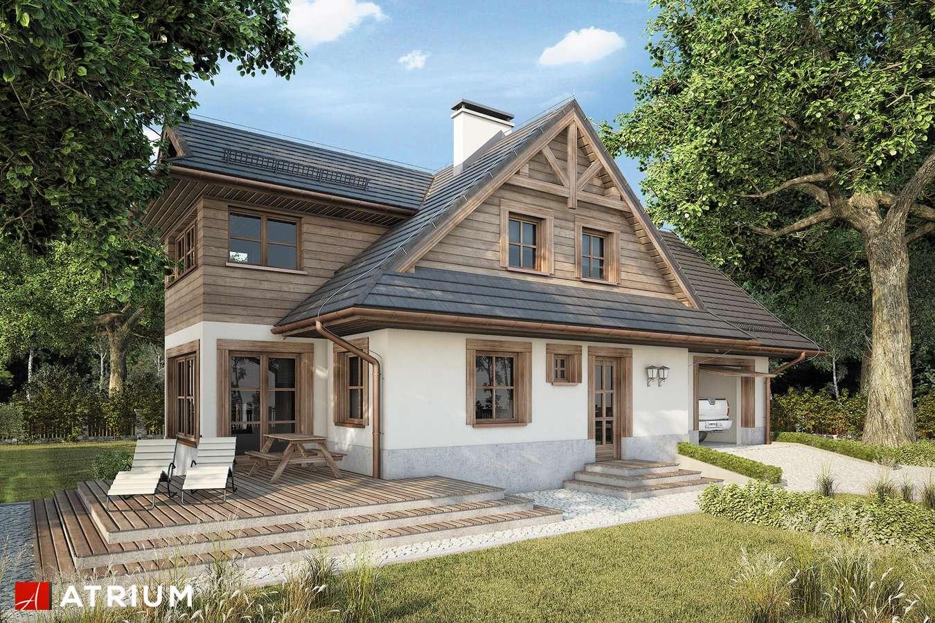 Projekty domów - Projekt domu z poddaszem SMREK V - wizualizacja 2