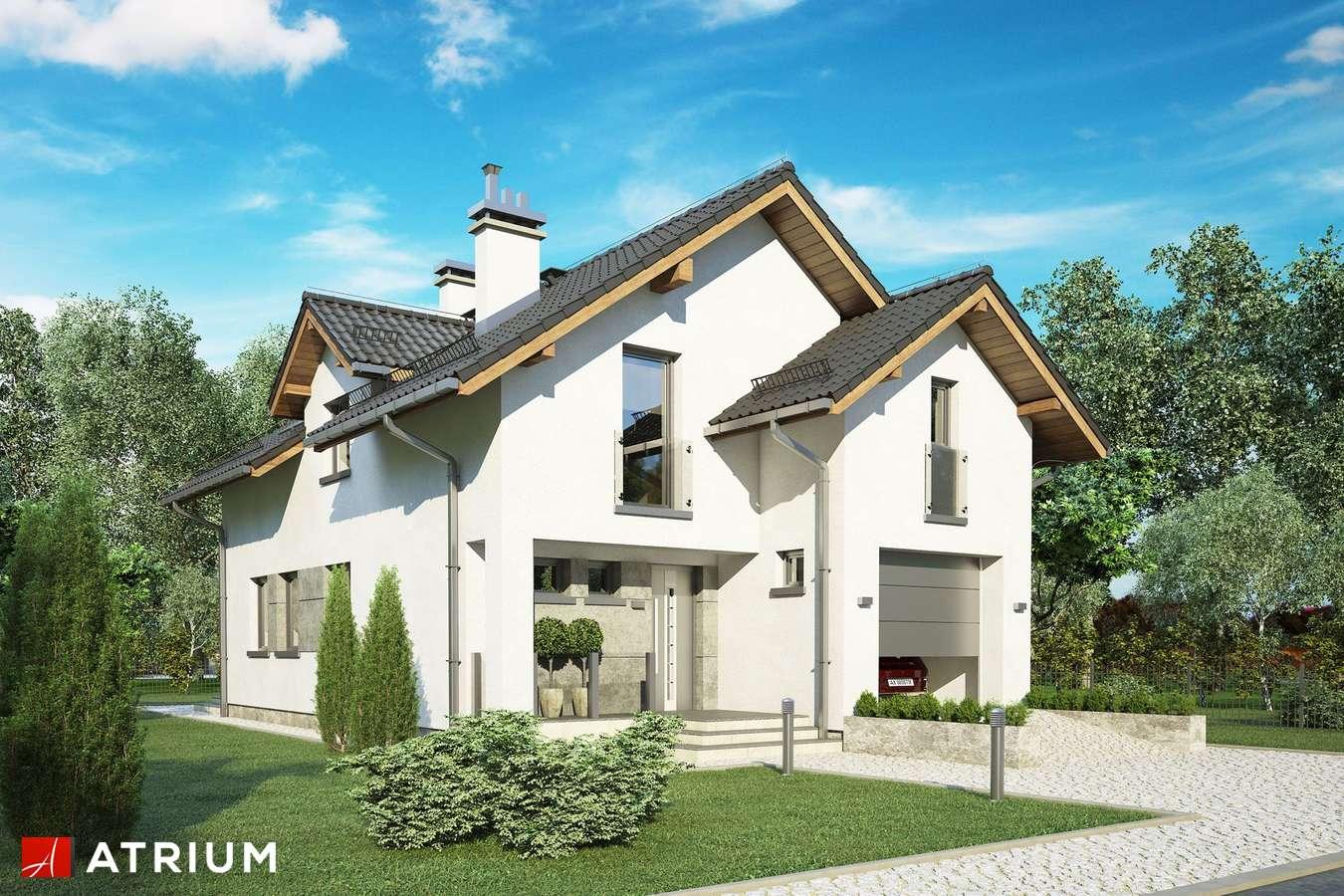 Projekty domów - Projekt domu z poddaszem JAWOR IV - wizualizacja 1