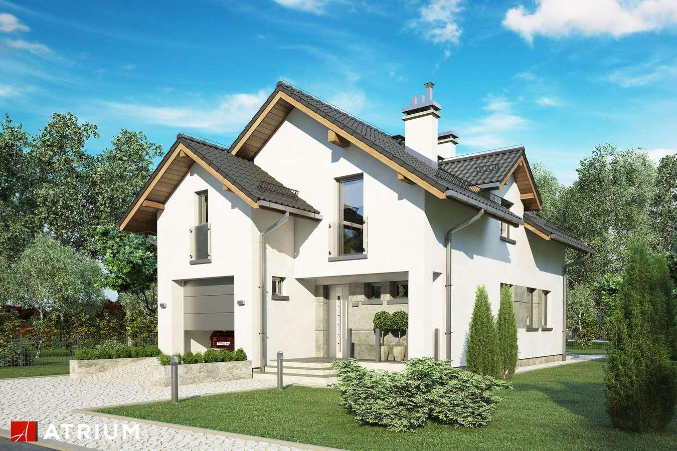Projekty domów - Projekt domu z poddaszem JAWOR IV - wizualizacja 1 - wersja lustrzana