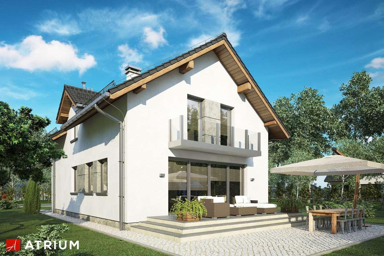 Projekty domów - Projekt domu z poddaszem JAWOR IV - wizualizacja 2 - wersja lustrzana