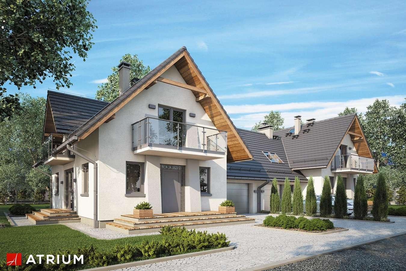 Projekty domów - Projekt domu z poddaszem KAMERTON DUO - wizualizacja 1