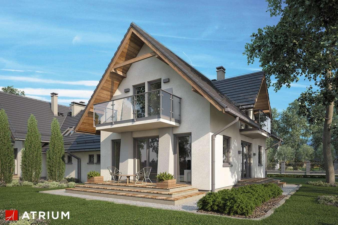 Projekty domów - Projekt domu z poddaszem KAMERTON DUO - wizualizacja 2