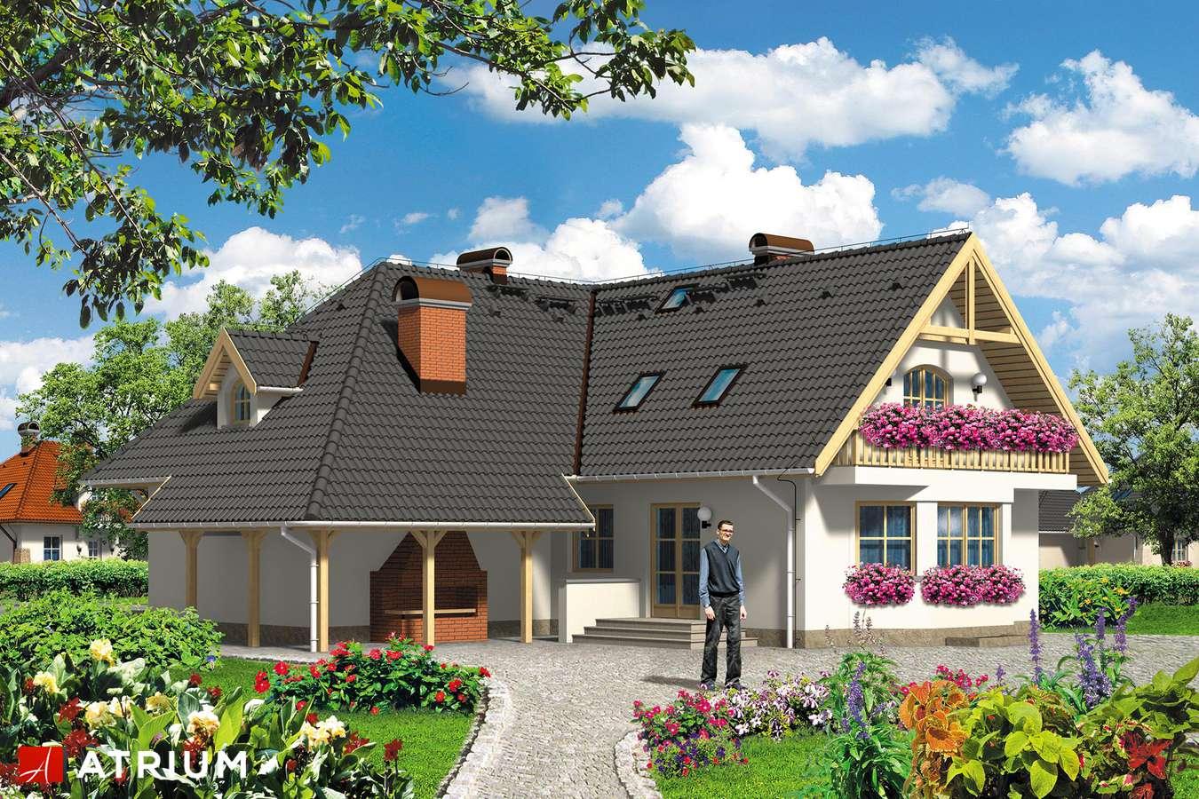 Projekty domów - Projekt domu z poddaszem KAROLINA - wizualizacja 1