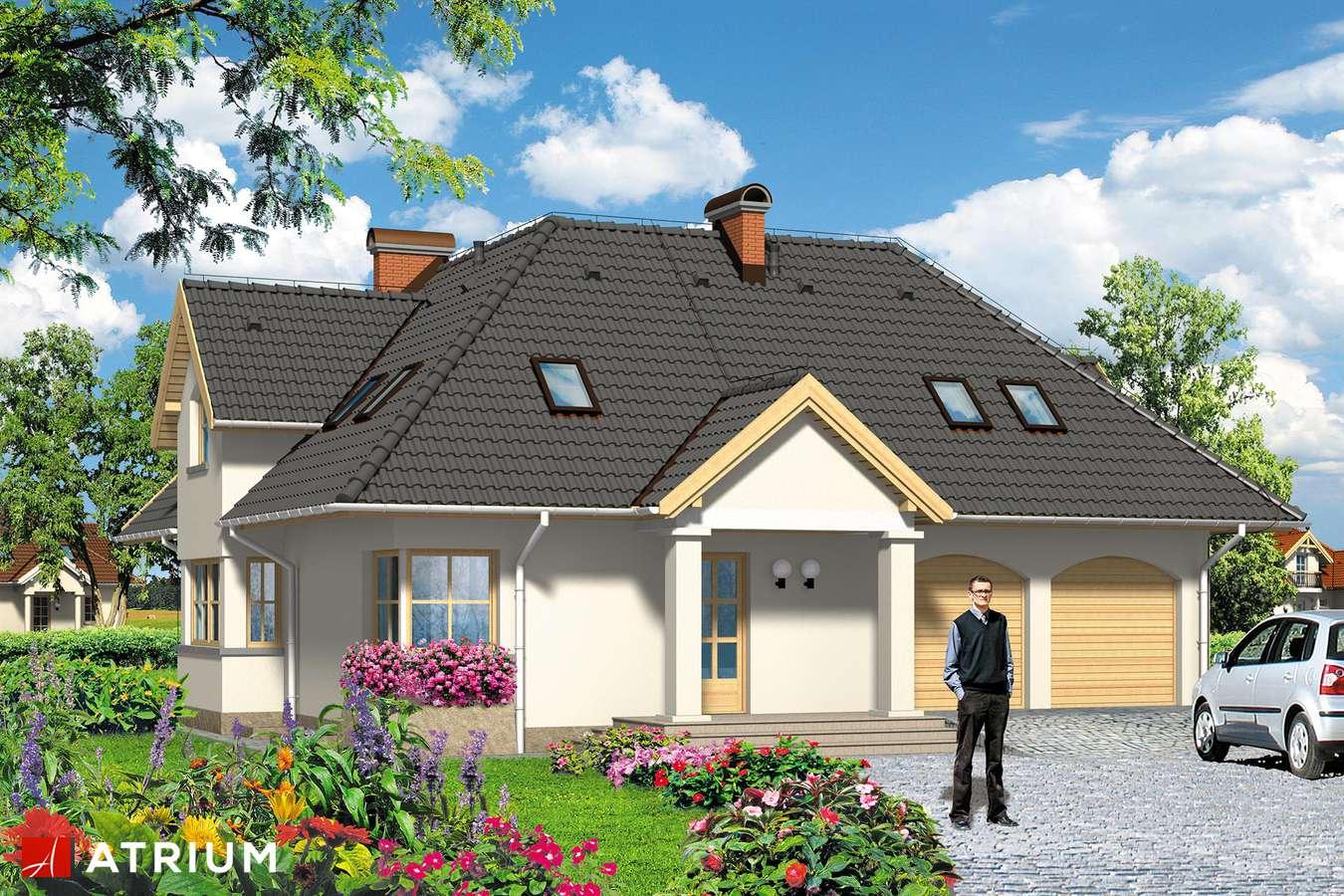 Projekty domów - Projekt domu z poddaszem KAROLINA - wizualizacja 2