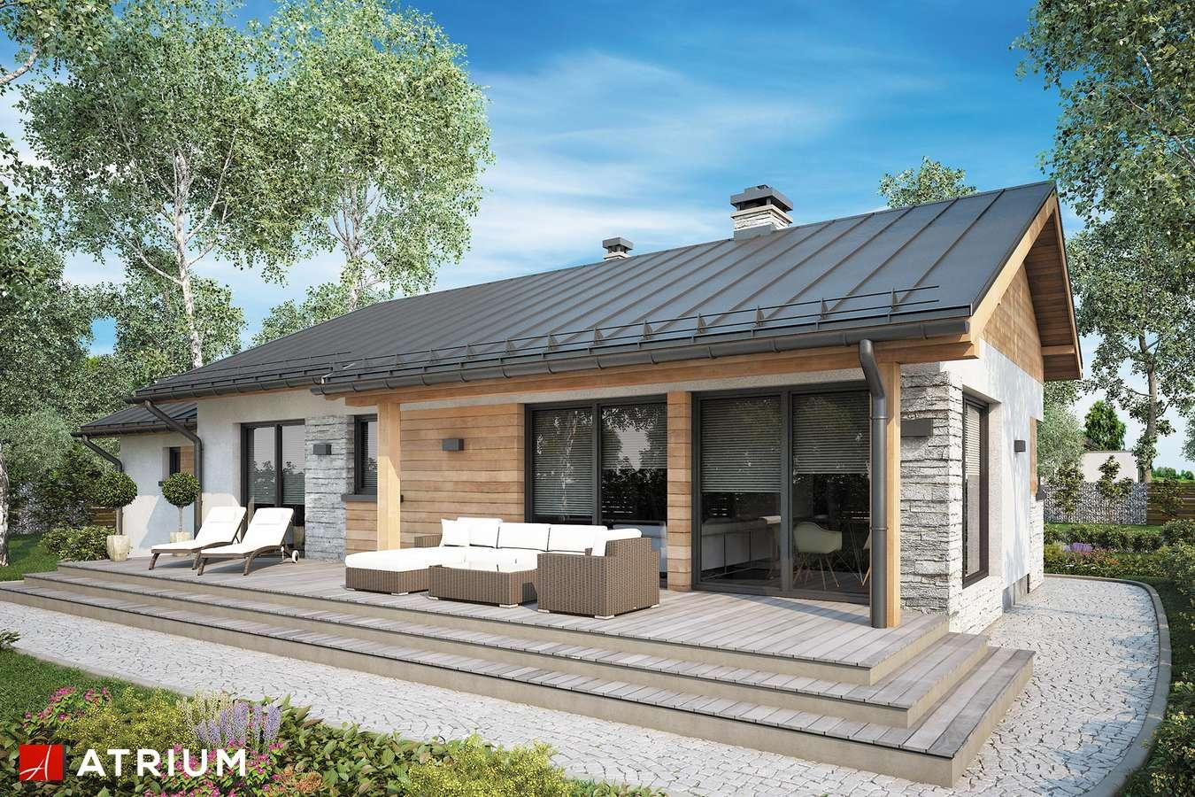 Projekty domów - Projekt domu parterowego ROBERTO II - wizualizacja 2 - wersja lustrzana