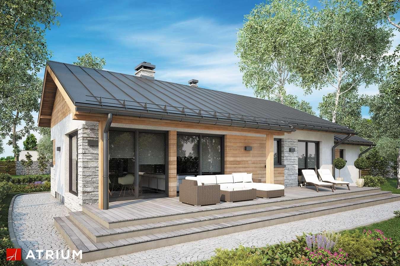 Projekty domów - Projekt domu parterowego ROBERTO II - wizualizacja 2