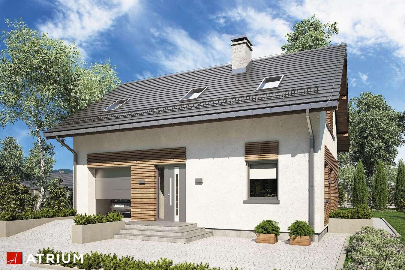 Projekty domów - Projekt domu z poddaszem COMPACT HOUSE IV - wizualizacja 1