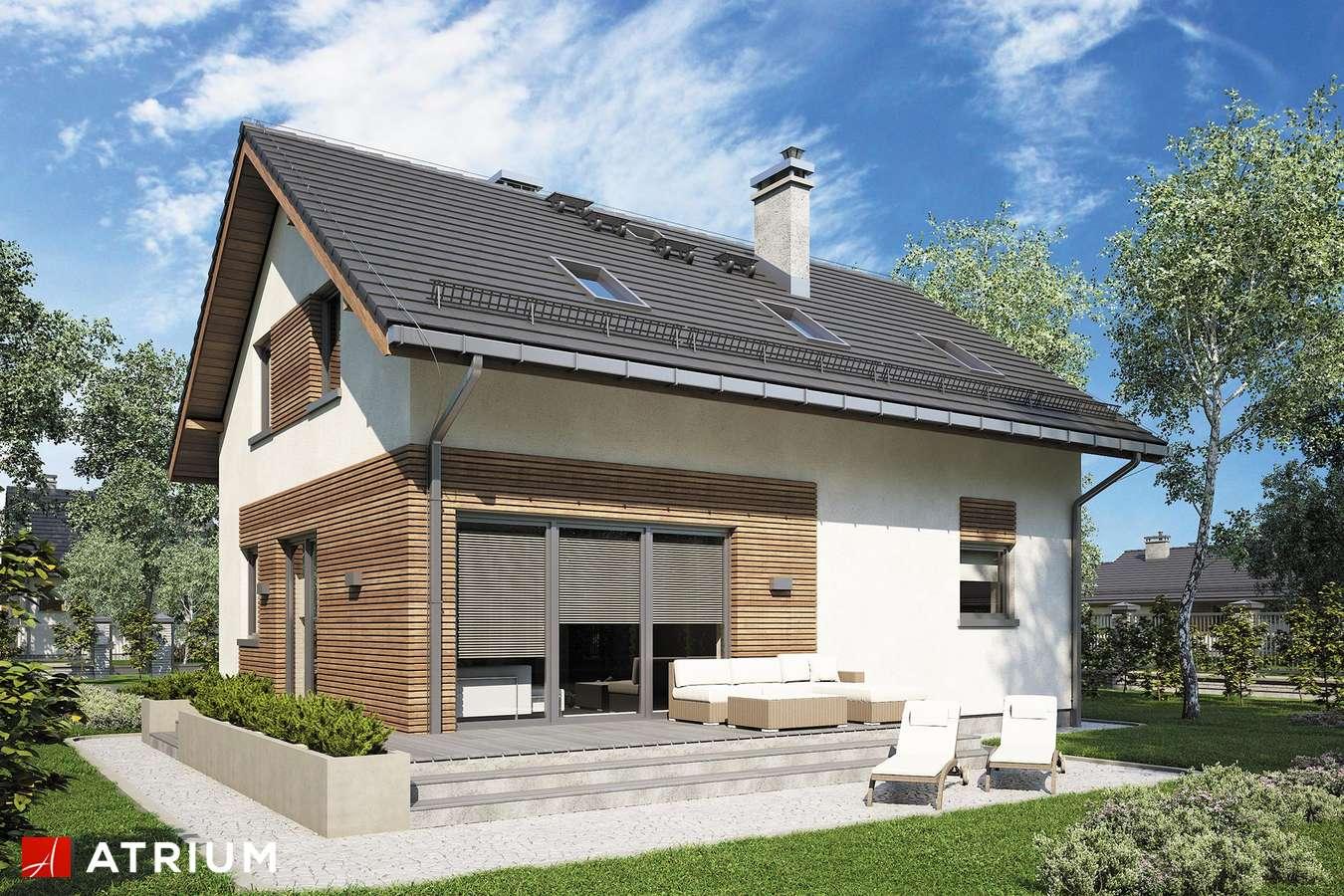 Projekty domów - Projekt domu z poddaszem COMPACT HOUSE IV - wizualizacja 2