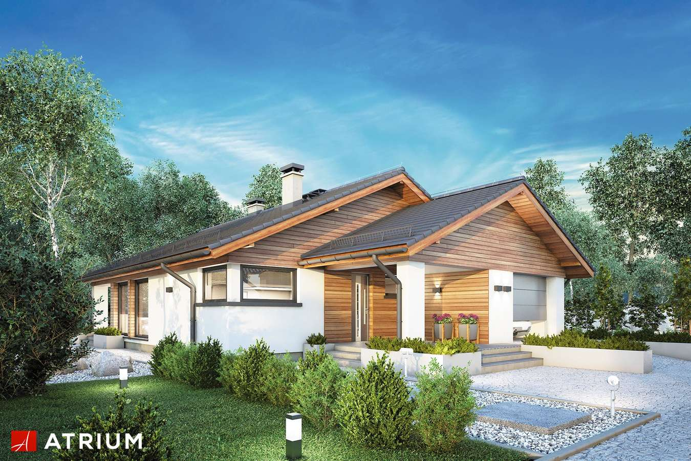 Projekty domów - Projekt domu parterowego PLISZKA IV SZ - wizualizacja 1