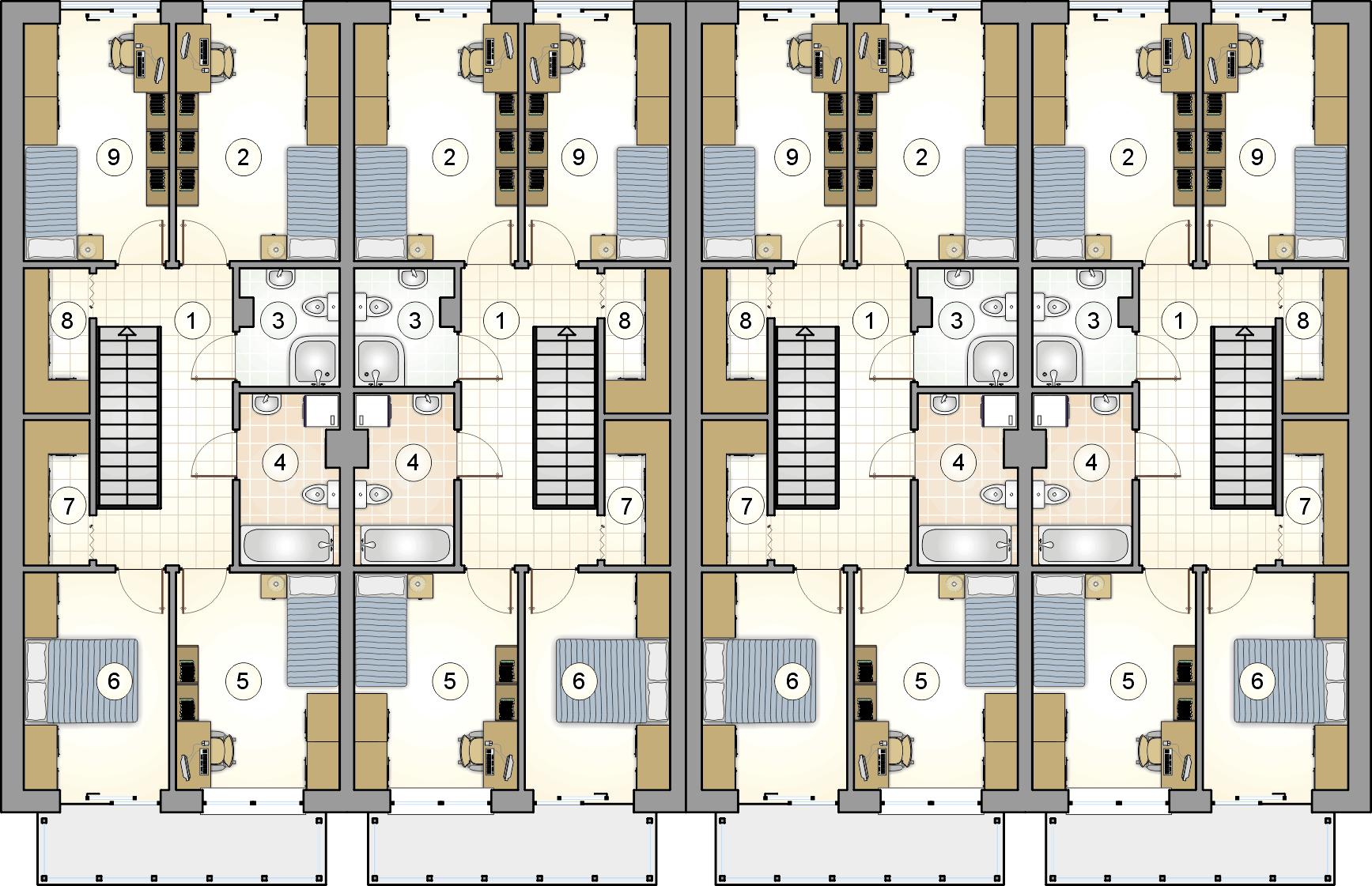 rzut piętra - projekt Torino Slim