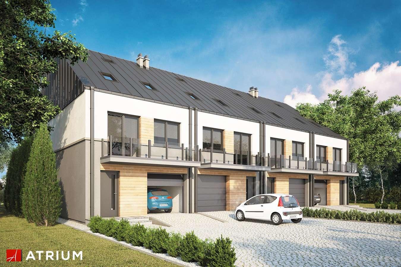 Projekty domów - Projekt domu piętrowego TORINO SLIM - wizualizacja 1
