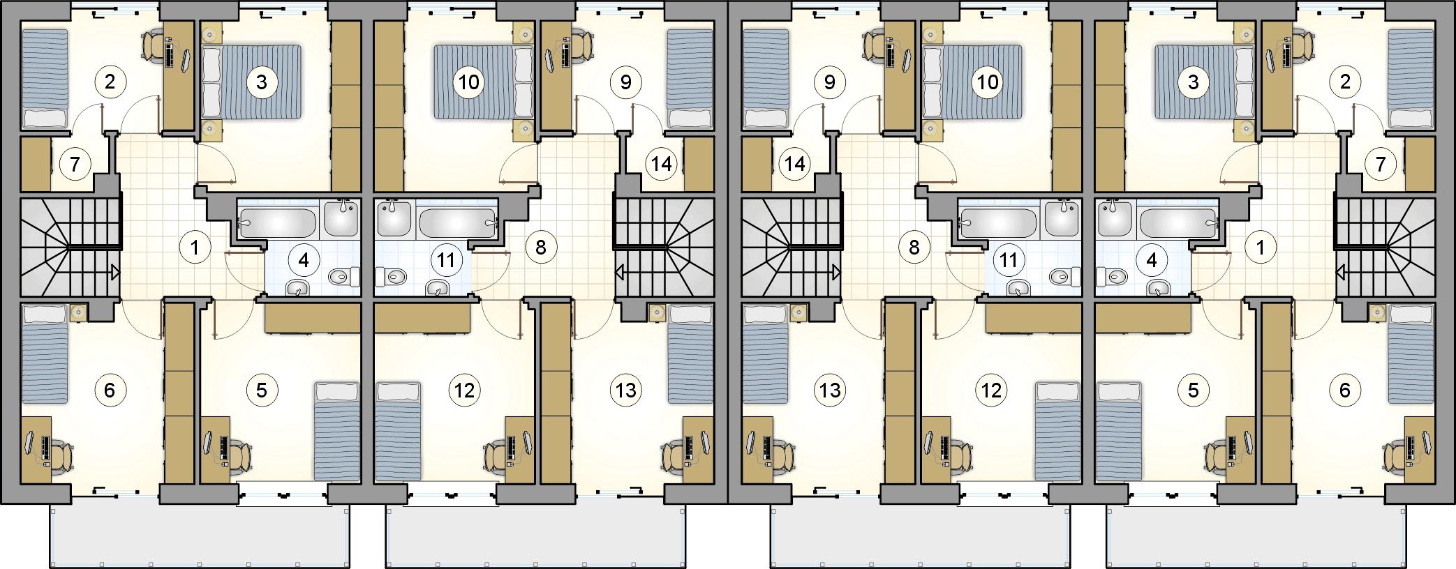 rzut piętra - projekt Torino II