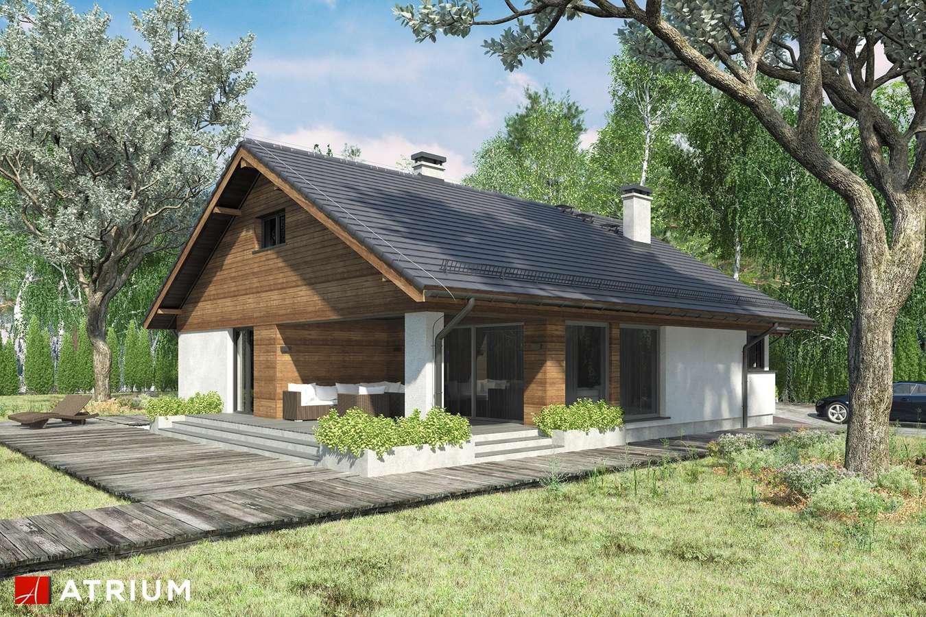 Projekty domów - Projekt domu z poddaszem KOS III SZ - wizualizacja 1