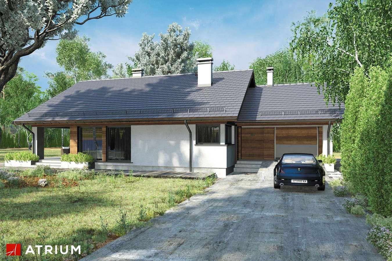 Projekty domów - Projekt domu z poddaszem KOS III SZ - wizualizacja 2
