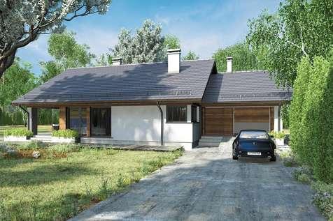 Projekt domu z poddaszem KOS III SZ - wizualizacja 2