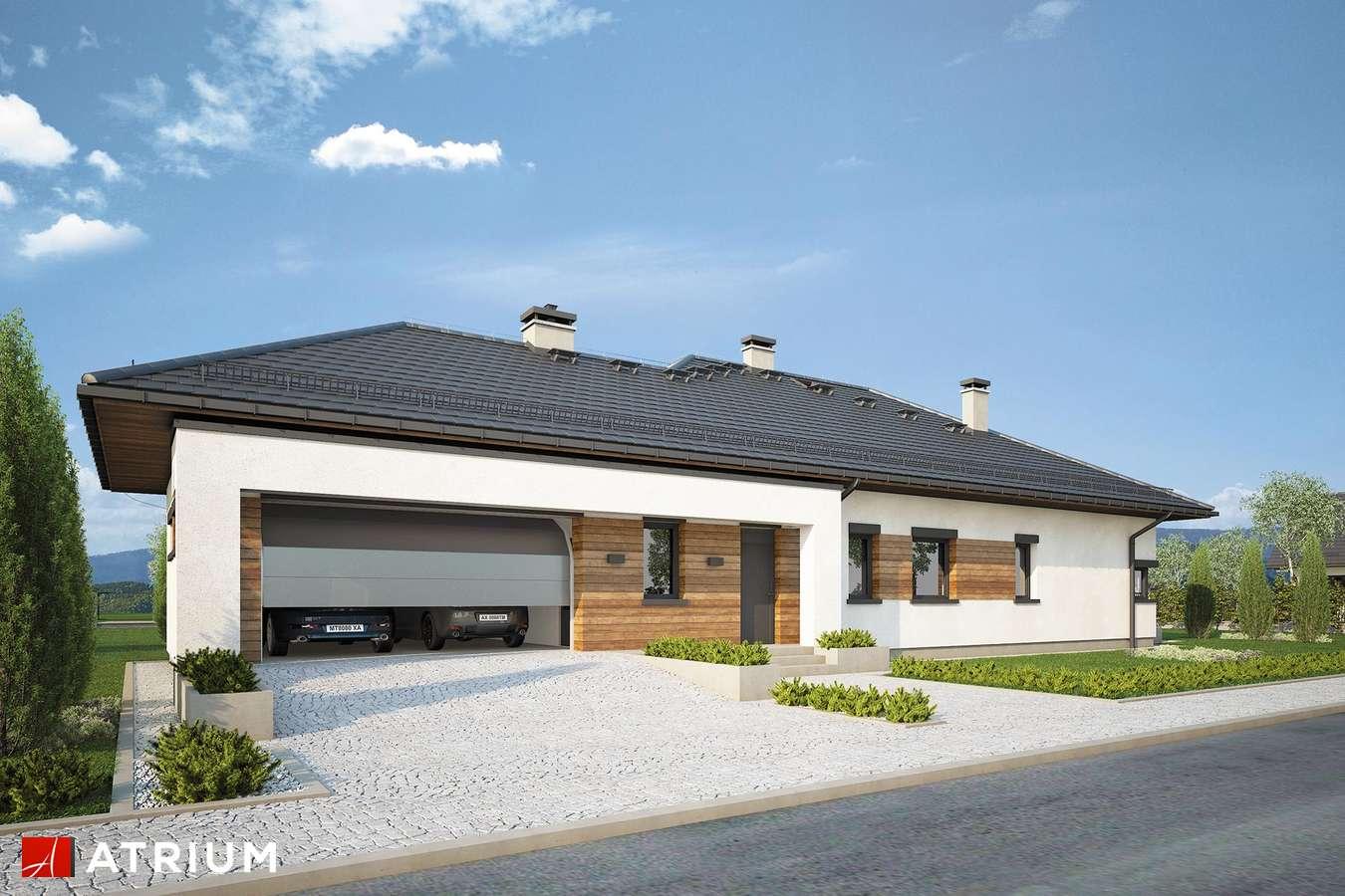 Projekty domów - Projekt domu parterowego MODEST - wizualizacja 1