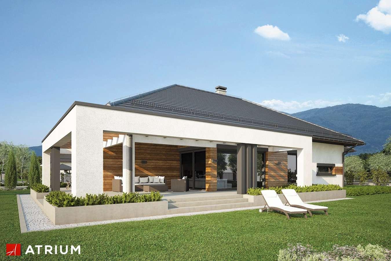 Projekty domów - Projekt domu parterowego MODEST - wizualizacja 2