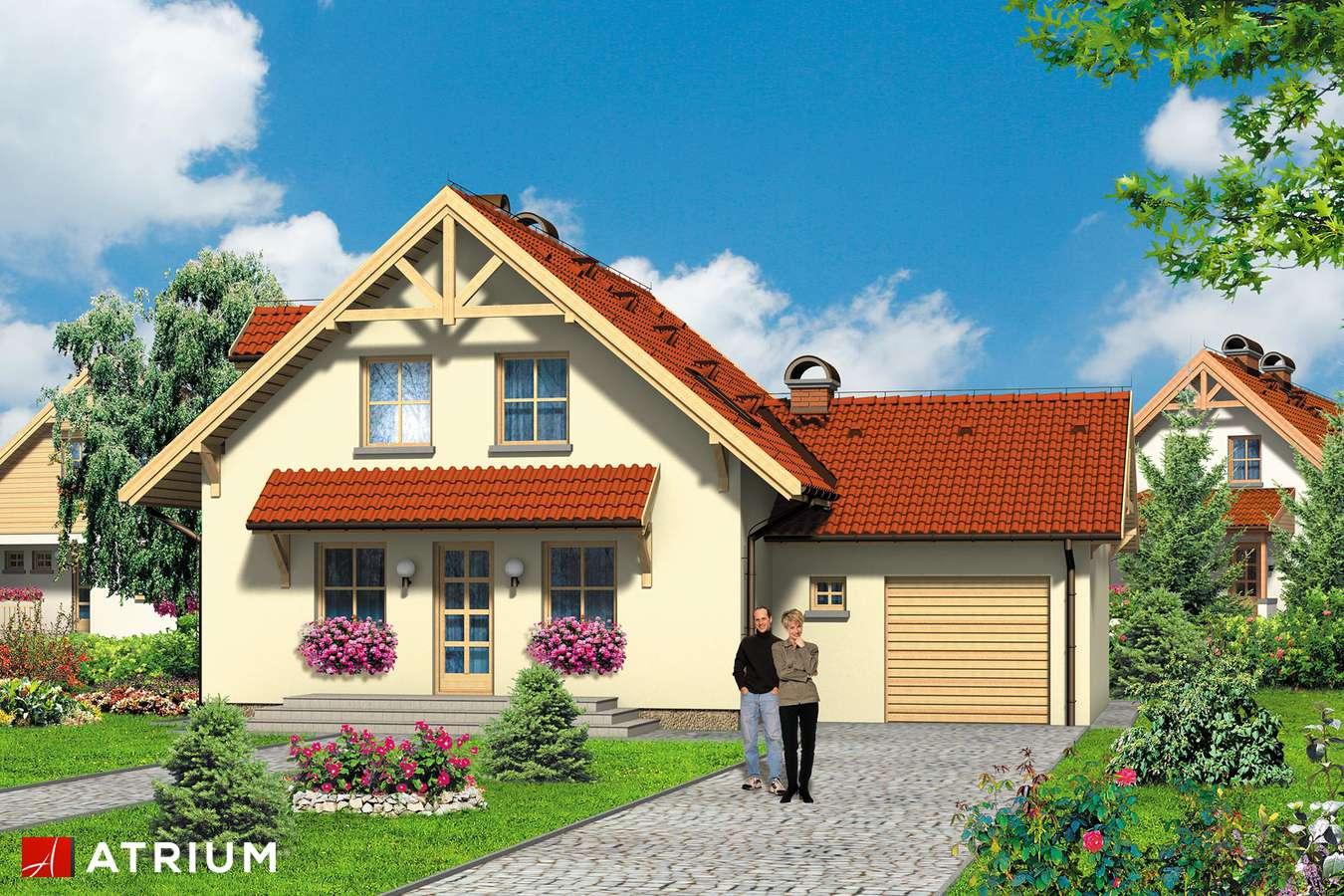 Projekt domu z poddaszem ALICJA - wizualizacja 1