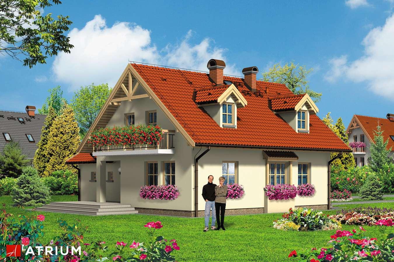 Projekt domu z poddaszem ALICJA - wizualizacja 2