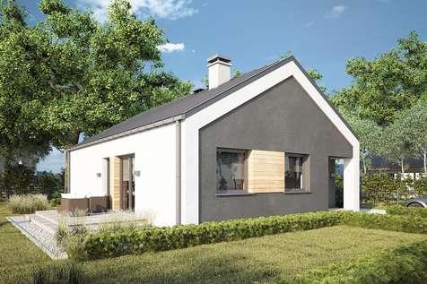 Projekt domu parterowego ADAM III - wizualizacja 1