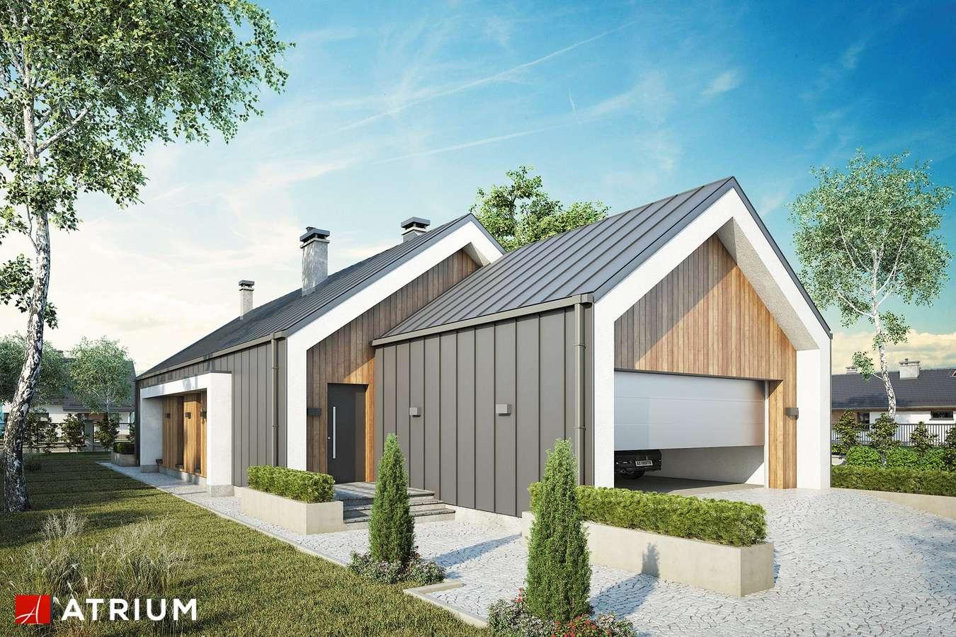 Projekty domów - Projekt domu parterowego LORENZO III - wizualizacja 1 - wersja lustrzana