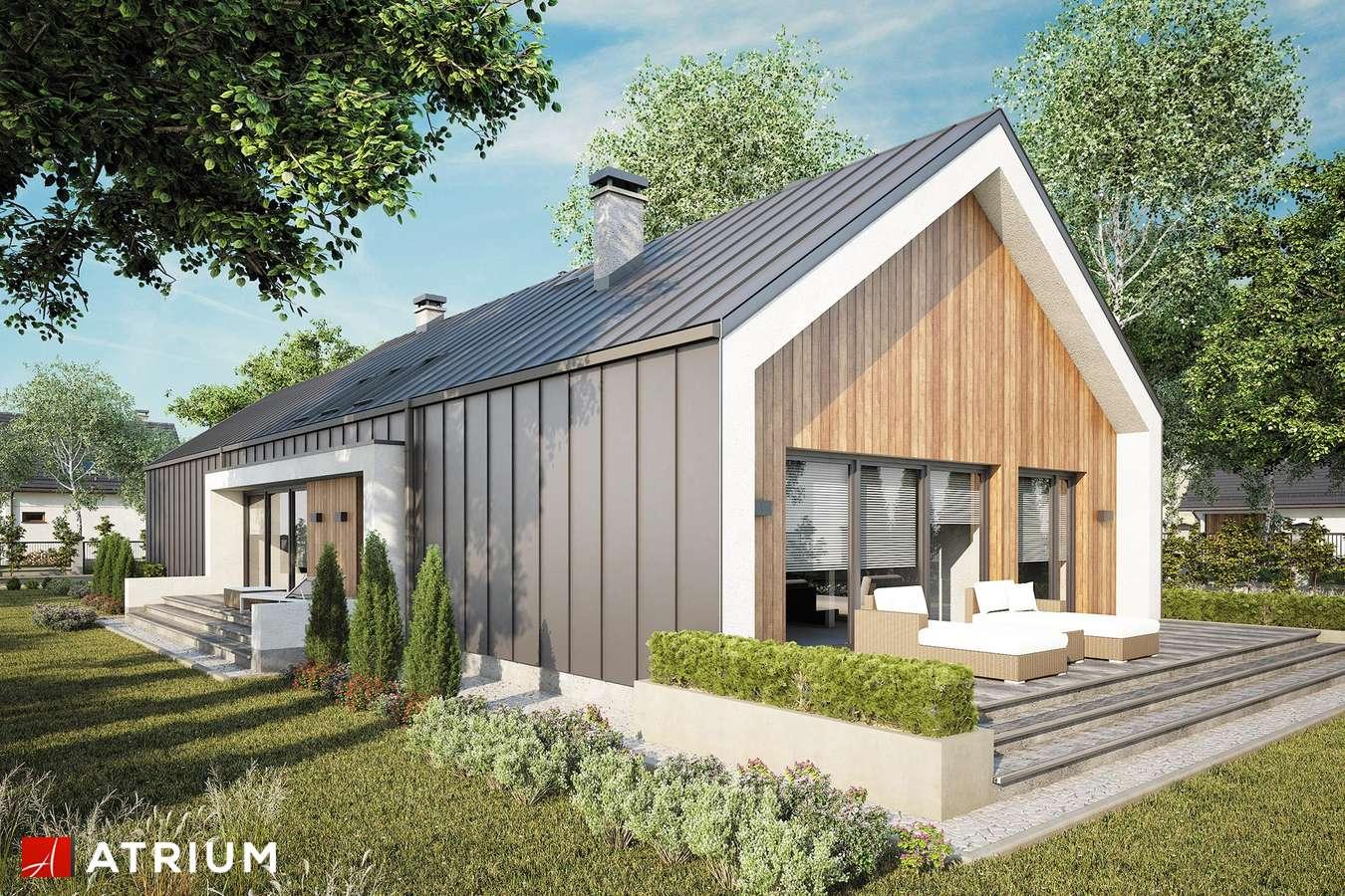 Projekty domów - Projekt domu parterowego LORENZO III - wizualizacja 2 - wersja lustrzana
